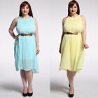 M-7XL plus size Women's pleated dress party summer evening everday dresses new