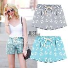 Neue Casual Frauen Damen Stretch Cotton Druck elastisch kurze Hot Pants JTOO