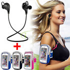 Wireless Bluetooth 4.1 Stereo In-ear Headset Earphone+Sports Gym Running Armband