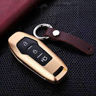 Hot Sales Tuff Car Key Cover Key Aircraft Grade Aluminum Case + Genuine Leather