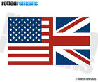 American British Flag Decal USA Union Jack United Kingdom Britain Sticker EMV