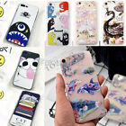 Ultra-Thin Slim Clear TPU Cat Q Face Flower Whale Pattern Case Fr iPhone 6/7Plus