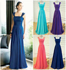long chic bridesmaid dress ball gown wedding evening formal prom 6 8 10 12 14 16