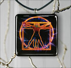 VITRUVIAN MAN LEONARDO DA VINCI #2 PENDANT NECKLACE 3 SIZES CHOICE -bmk8Z