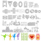 Metal Cutting Dies Stencil DIY Scrapbooking Album Papers Cards Embossing Crafts