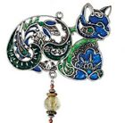 Pewterworks Cat Wind Chimes by Carson Home Accents--Your Choice of Design/Color