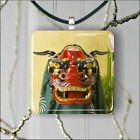 CHINESE RED DRAGON PENDANT NECKLACE 3 SIZES CHOICE -bjn8Z