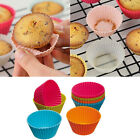6pcs Round Soft Silicone Cake Muffin Chocolate Cupcake Liner Baking Cup Mold WB