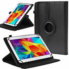 "US Universal 360 Rotating Folio Case PU Leather Stand Cover for 10"" 10.1"" Tablet"
