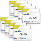 MOREINKS Yellow (x8) Compatible CLI-526 Ink Cartridges for Canon Pixma Printers