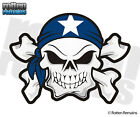 Bonnie Blue Flag Skull Crossbones Decal Biker Motorcycle Gloss Vinyl Sticker HGV