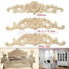 Lots Type Wood Carved Onlay Applique Unpainted Flower Door Home Furniture Decor