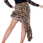 Leopard Latin Salsa Tango Rumba Cha Cha Ballroom Dance Dress Lady Mini Skirts
