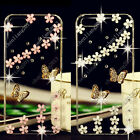 3D Bling Butterfly Transparent Soft TPU Ultra Thin Back Case Cover Skin C11 #2