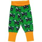 BNWT Maxomorra Boys Tractor Baby Trousers NEW Green Pants Joggers