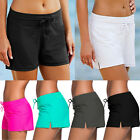 Womens Shorts Plain Bikini Swim Swimwear Lady Boy Style Short Brief Bottoms FO