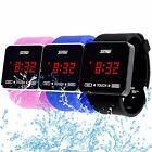 SKMEI Men Women Words Setting Touch Screen Waterproof Rubber Sport Digital Watch