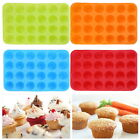 24 Cavity Silicone Muffin CupCake Cake Cookie Baking Mould Mold Pan Baking Tray