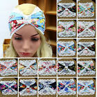 Fa 1PC Women Lace Flower Turban Twist Headband Head Wrap Knotted Yoga Hair Band