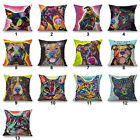 Pop Cat&Dog Pattern Home Decor Sofa Cotton Linen Throw Cushion cover Pillowcase