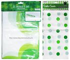 """MOMENTUM* 54""""x108"""" St Patricks Day Plastic TABLE COVER White+Green *YOU CHOOSE*"""