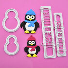 4x/set Penguin/owl/triangle Cookie Biscuit Cheese Vegetable Food Cutters Moulds