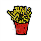 French fries Shape Embroidered Sew Iron on Patch Badge Patches Sewing Applique