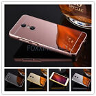 Aluminum Metal Bumper Frame +PC Mirror Back Cvoer Case Cover For ZTE Axon 7 2017