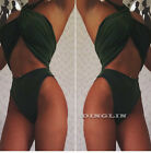 Womens Halter Push-up Bra Bikini Set Swimsuit Bathing Suit Swimwear High Waisted