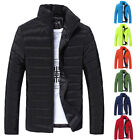 Mens Thick Bubble Puffer Coat Cotton Padded Jacket Youth Winter Warm Outwear