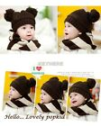 Knit Cap Hat Baby Wool Crochet New Cute Winter Warm Knitted Handmade Cap Y329