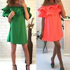 Summer Women Off-Shoulder Beach Dress Casual Party Cocktail Short Mini DressTL01