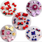 9Pcs/set Baby Girl Hair Clip Bow Flower Mini Barrettes Party Kids Hairpins LAUS