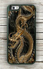 DRAGON GOLDEN ASIAN ART CASE FOR iPHONE 7 OR 7 PLUS -jnu7Z