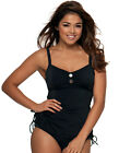 Curvy Kate Luau Love Tankini Swimsuit Top Black ~ CS 1906