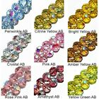 WHOLESALE GLASS BEADS FACET ROUND 10 COLORS AMBER PINK AB YELLOW AB BLUE AB 6MM