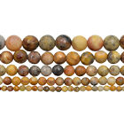 Natural Faceted Crazy Lace Agate Gemstone Round Beads 15.5'' 4mm 6mm 8mm 10mm