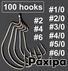 Lot 100pcs Strengthened Wide Gap Worm Hook Fishing Hook Used for Soft Lure