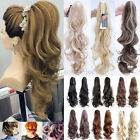 Mega Long Clip in Ponytail Hair Extensions Brown Black Blonde Claw On Piece T4G