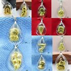 New Pure 999 Gold With Man-made Crystal Lucky Pendant - 12 Style Availalbe