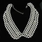 Delicate 3 Colors Faux Pearl Rhinestone Beads Choker Neck Collar Necklave Wrap