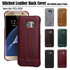 Pierre Cardin Genuine Leather Back Case Cover For Samsung Note 4/5 S7/S6 Edge