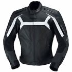 IXS Dundrod Perforated Mens Leather Motorcycle Jacket - Black White