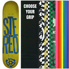 STEREO Skateboard Deck STACKED LOGO GREEN/BLUE 7.5 with GRIPTAPE image
