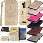 Maple Leaf Flip Leather Wallet Stand Case Cover For Asus Zenfone 3 Max ZC520TL