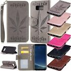 Maple Leaf Flip Leather Wallet Case Cover For Samsung Galaxy S8/S8 Plus/J7/A7 +