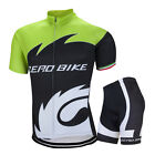 New Mens Sports Team Cycling Jersey Sets Bike Bicycle Top Short Sleeve Clothing