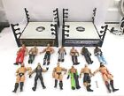 WWE/WWF Collection of 13 Action Figures & 2 Wrestling Rings - N09