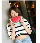 US SHIP Mini PU Handbag Phone Bag Purse Cross Body Bag Watermelon Lemon Slice