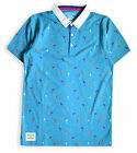 Boys Polo Shirt New Kids Tops Short Sleeved Cotton Rich Blue T-Shirt 3-13 Yrs